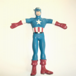 1989 Just toys bendy Captain America figure 6 inch @sold@